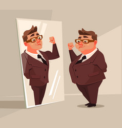 fat man office worker character vector image