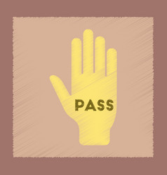 Flat shading style icon hand pass vector