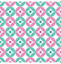 Floral daisy seamless design background vector