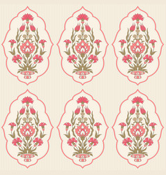 Floral seamless pattern in folk style vector