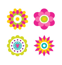flowers in blossom collection vector image