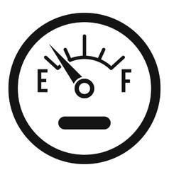 Fuel sensor icon simple style vector image