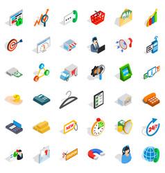 fund icons set isometric style vector image