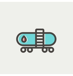 Gas and oil tank thin line icon vector