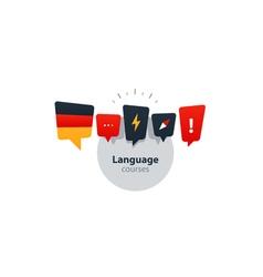 german language courses advertising concept fluent vector image