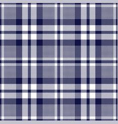 Glen plaid navy blue pattern vector
