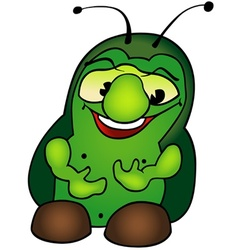 Green Fat Bug vector