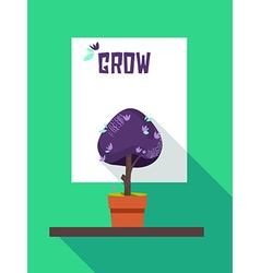Grow Abstract Motivational Poster vector