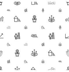 Growth icons pattern seamless white background vector