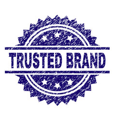 Grunge textured trusted brand stamp seal vector