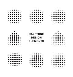 halftone dots logos vector image