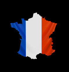 hanging france flag in form map french vector image
