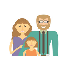 happy family love members vector image