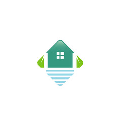 house sea box logo vector image