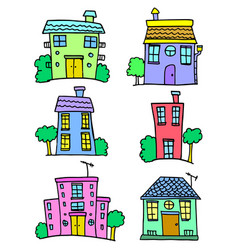 house set collection stock colorful vector image