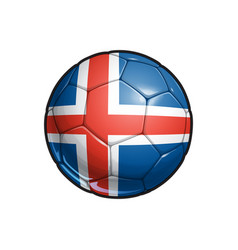 Icelandic flag football - soccer ball vector