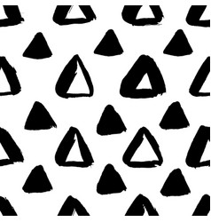 ink triangle pattern black gold vector image