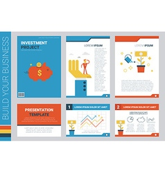 investment project book cover and presentation vector image
