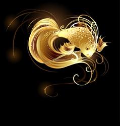 Jeweler goldfish vector