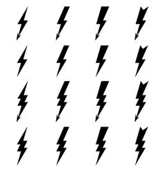 Lighting bolt Icons vector