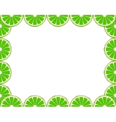 Lime frame vector image