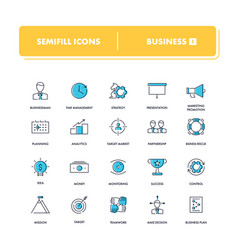 Line icons set business 1 vector