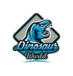 logo emblem of dinosaur jurassic period vector image