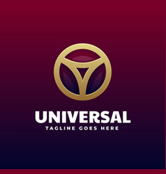 logo universal gradient colorful style vector image