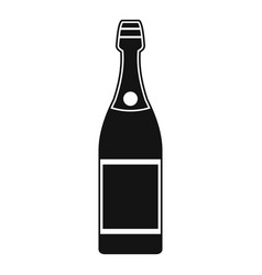 luxury champagne icon simple style vector image