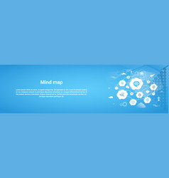 Mind map concept horizontal banner with copy space vector