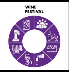 Modern wine festival infographic design template vector