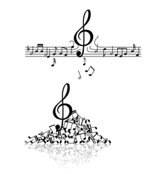 Musical background with spoiled notes vector
