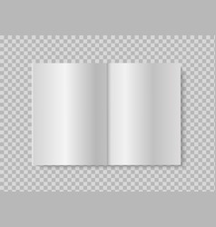 open book or magazine realistic mock up blank vector image