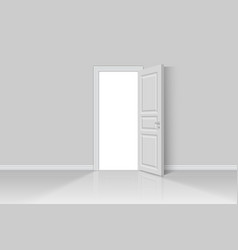Open realistic door vector