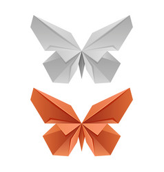 paper japanese butterflies vector image