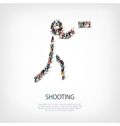 people sports shooting vector image