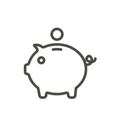 piggy money icon line bank symbol vector image