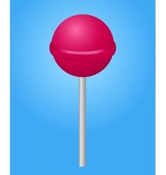 Pink candy lolipop vector