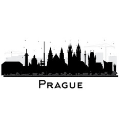 Prague czech republic city skyline silhouette vector