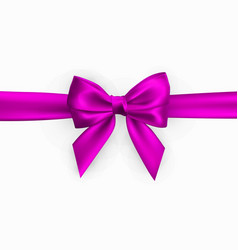 realistic pink bow element for decoration gifts vector image