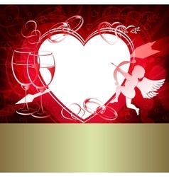 Red design with hearts vector