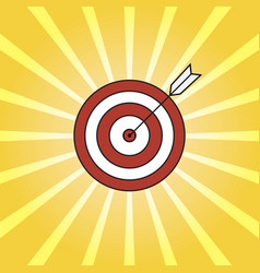 retro rays and target with arrow background pop vector image