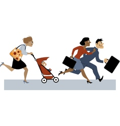 Returning from maternity leave vector image