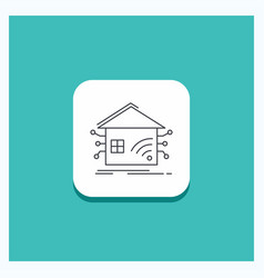 round button for automation home house smart vector image