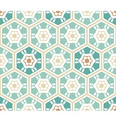 Seamless hexagons pattern vector image