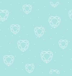 seamless pattern with polygonal heart vector image