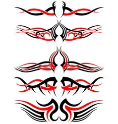 Setof Tribal Tattoos vector image