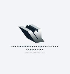Silver colored bulk sans serif font vector