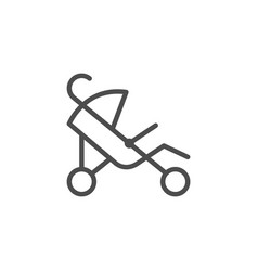 stroller line icon vector image