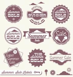 Summer Sale Labels vector